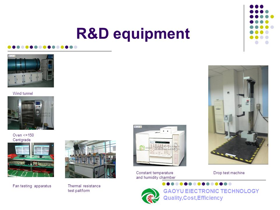 R&D equipment GAOYU ElECTRONIC TECHNOLOGY Quality,Cost,Efficiency