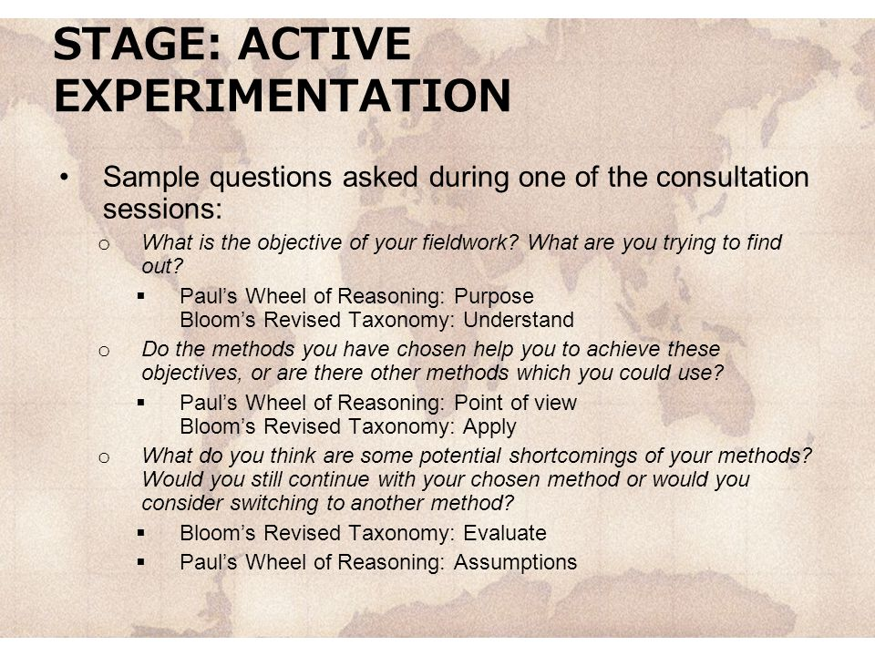 STAGE: ACTIVE EXPERIMENTATION
