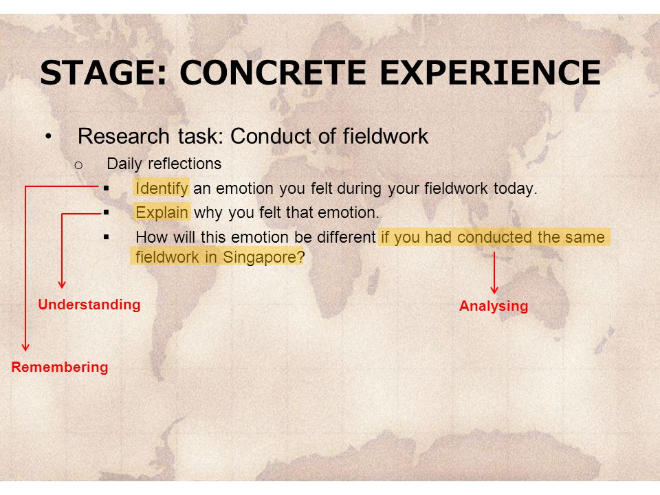 STAGE: CONCRETE EXPERIENCE