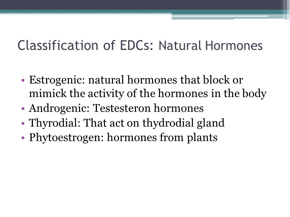 Classification of EDCs: Natural Hormones