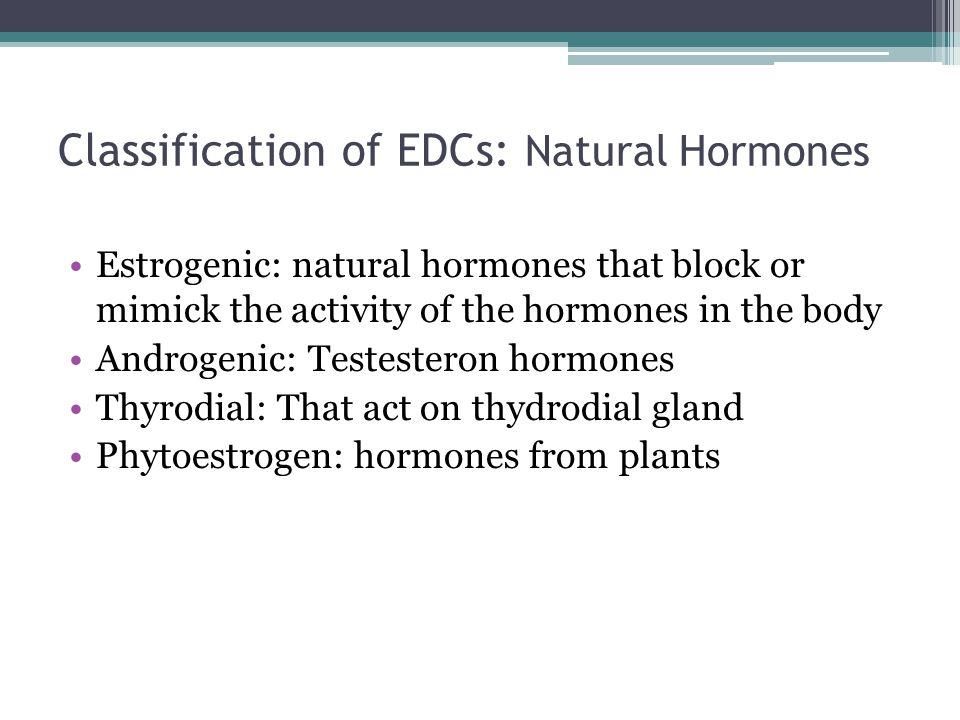 Classification of EDCs: Natural Hormones