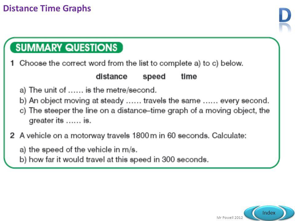 Distance Time Graphs D