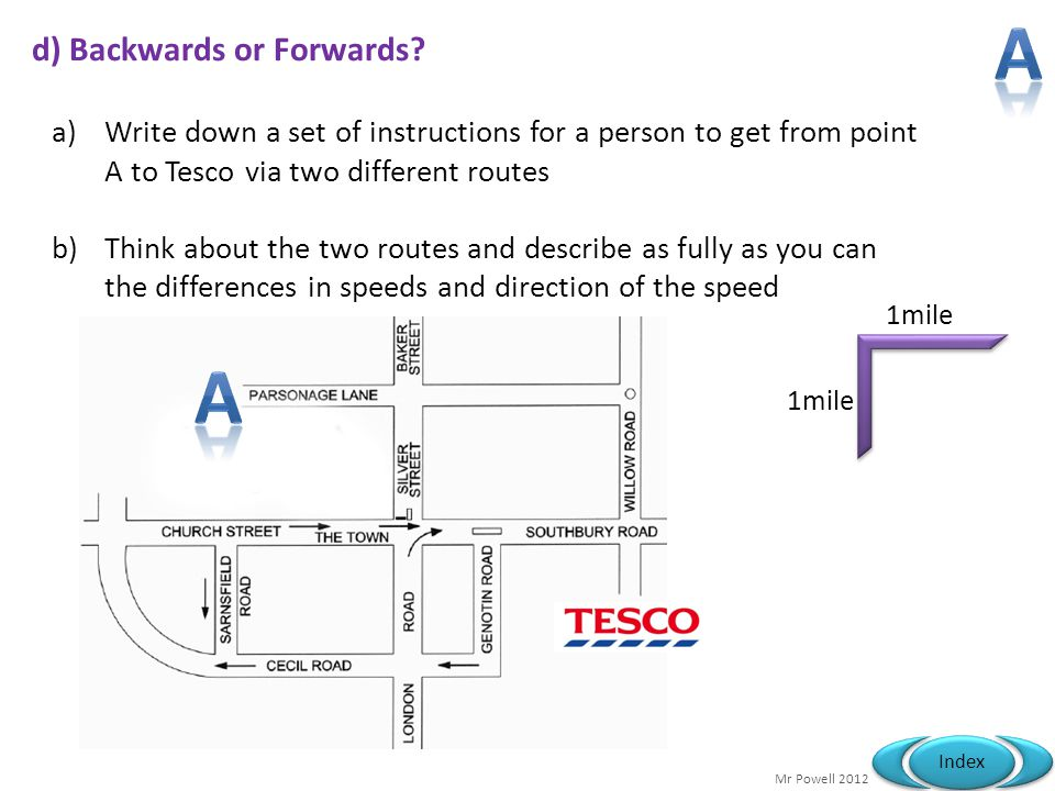 d) Backwards or Forwards