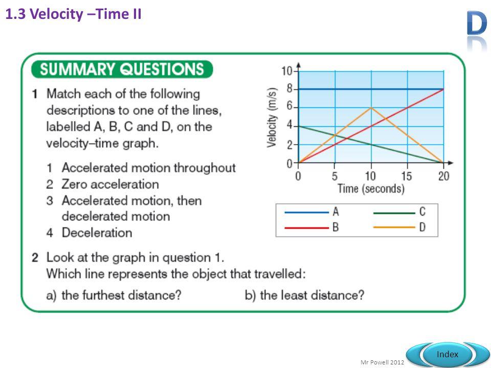 1.3 Velocity –Time II D