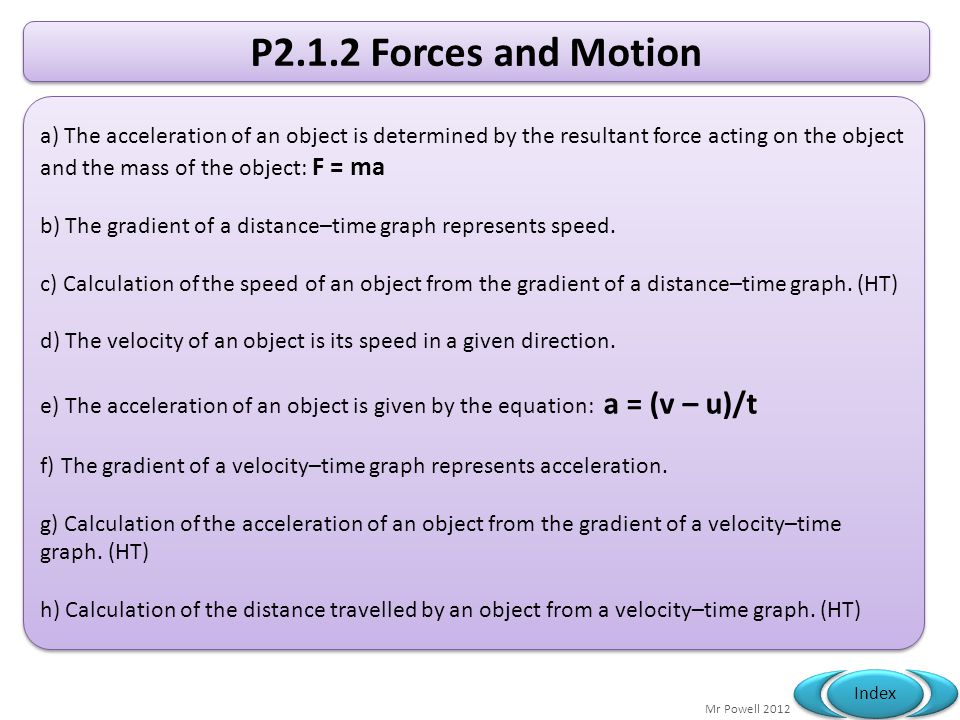 P2.1.2 Forces and Motion