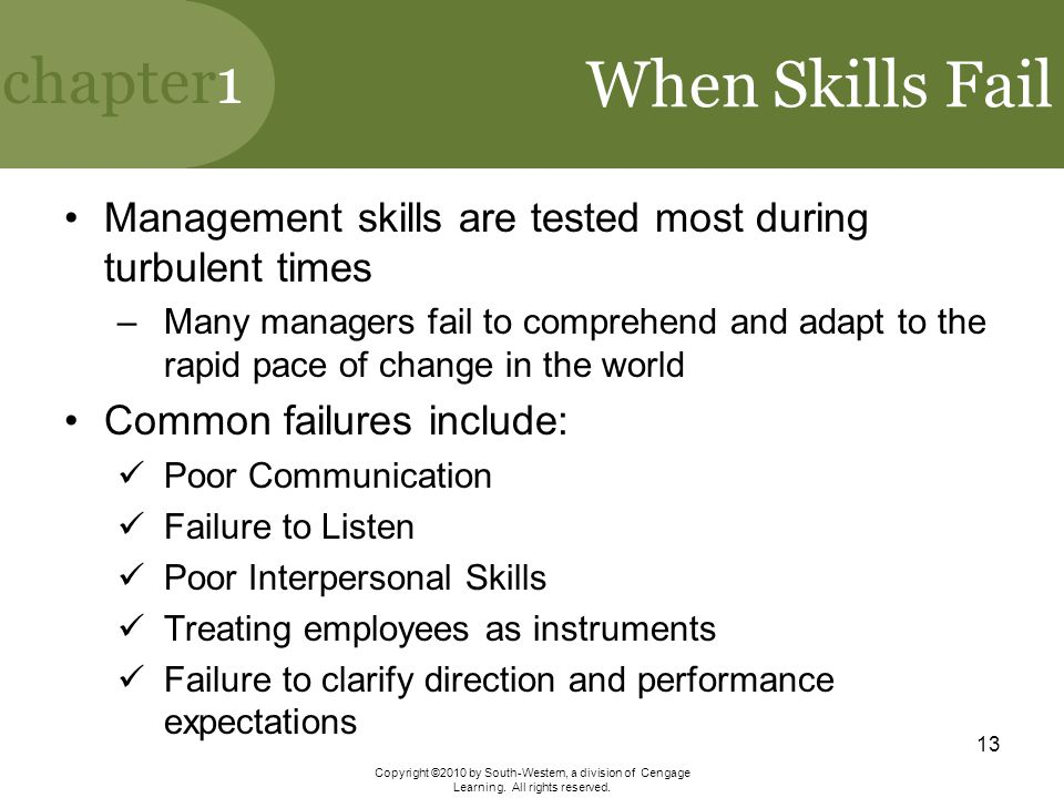 When Skills Fail Management skills are tested most during turbulent times.
