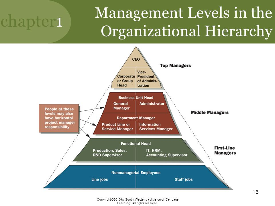 Management Levels in the Organizational Hierarchy