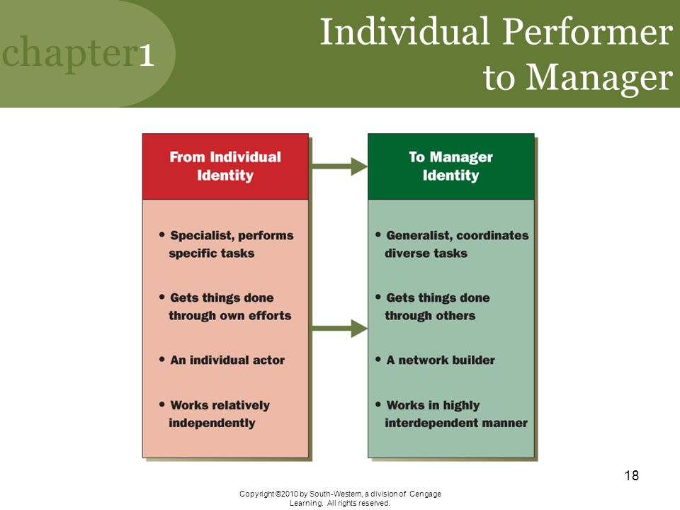 Individual Performer to Manager