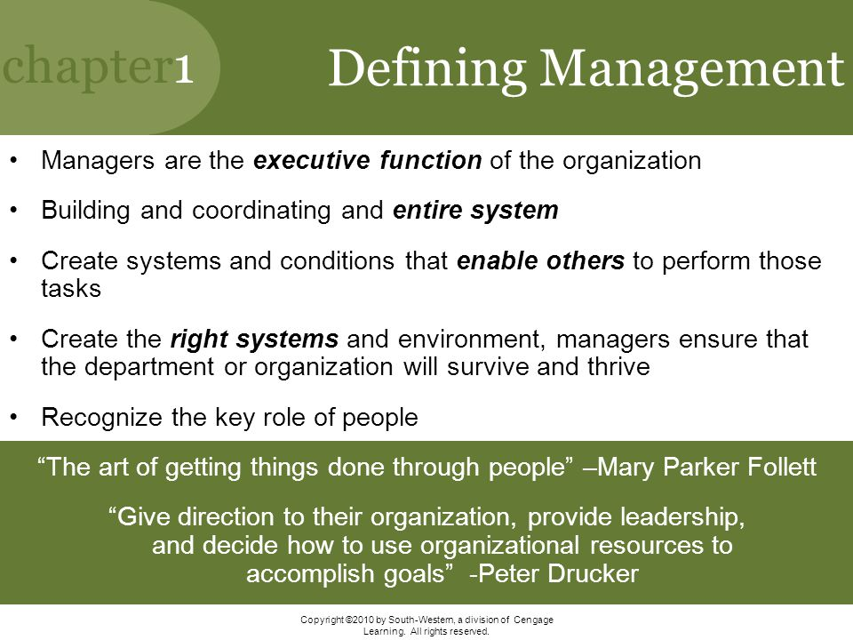 The art of getting things done through people –Mary Parker Follett