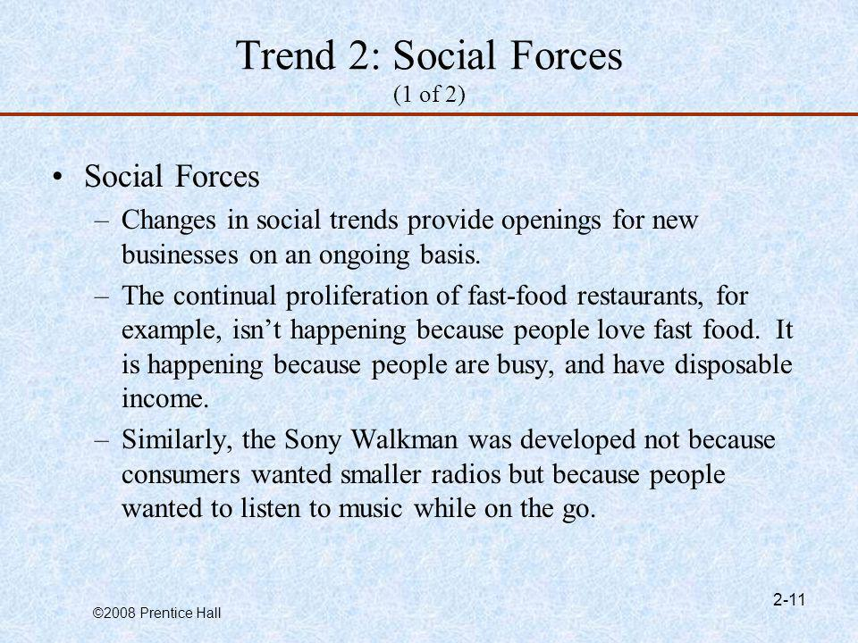 Trend 2: Social Forces (1 of 2)
