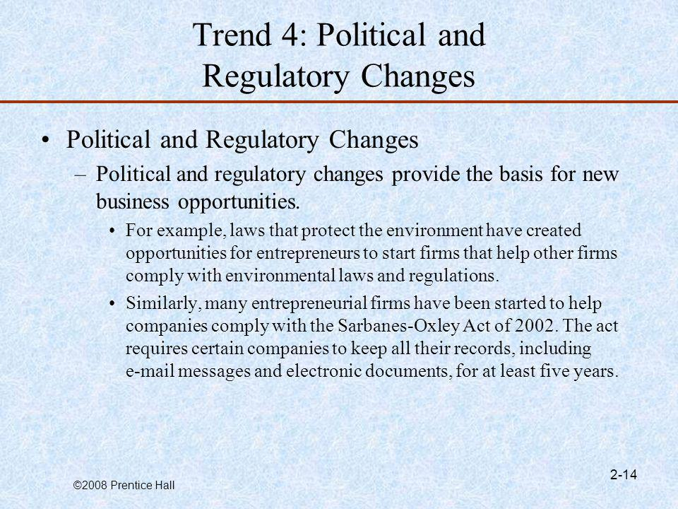 Trend 4: Political and Regulatory Changes