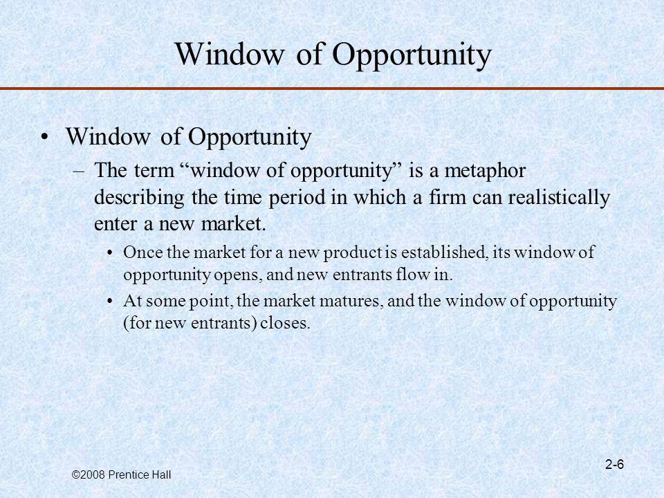 Window of Opportunity Window of Opportunity