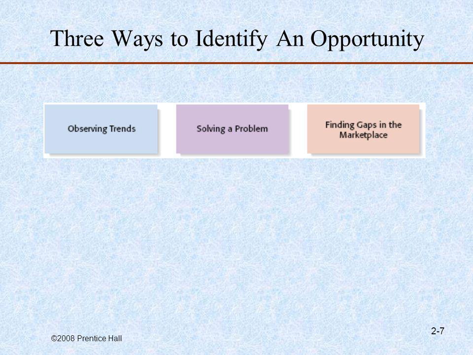 Three Ways to Identify An Opportunity