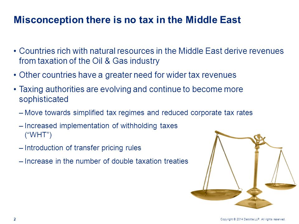 WHT and double tax treaties in the Middle East