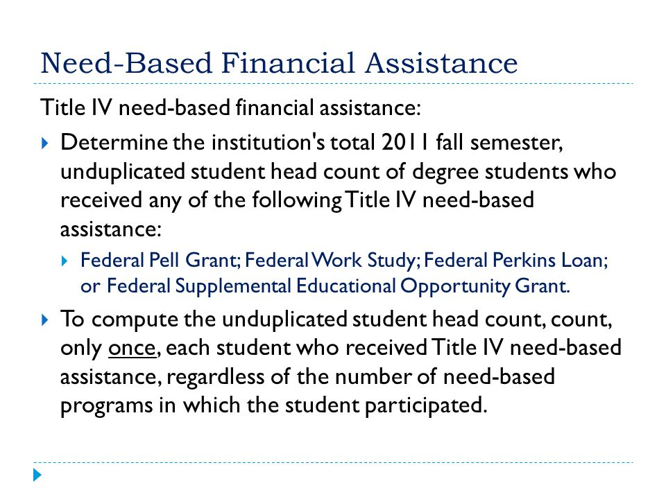 Need-Based Financial Assistance