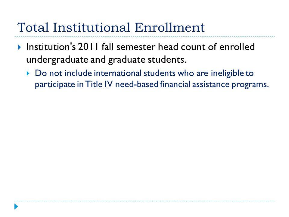 Total Institutional Enrollment