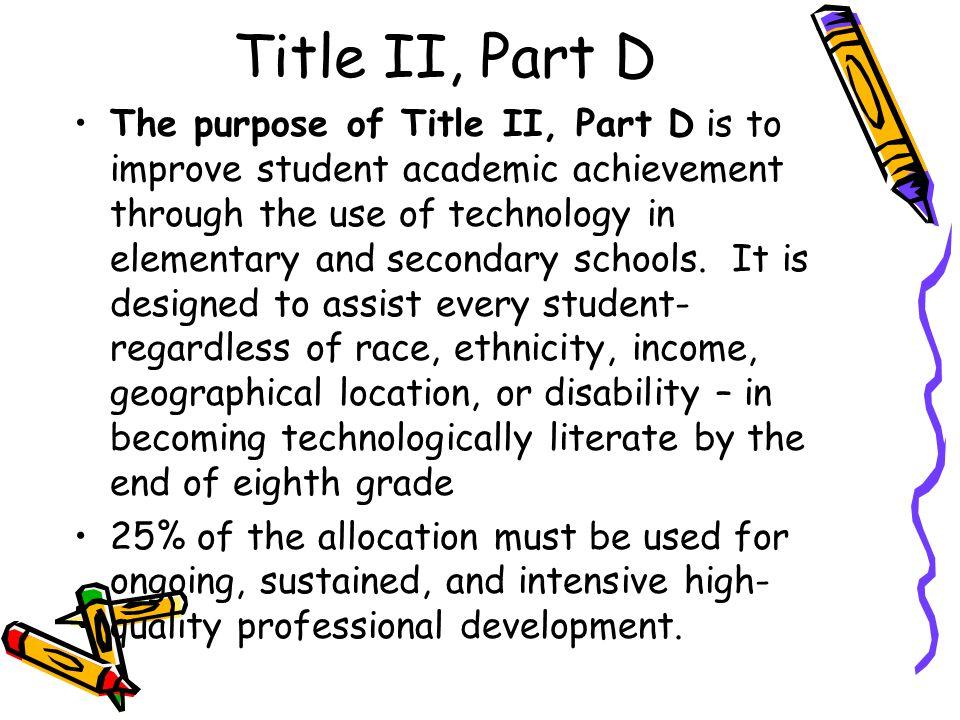 Title II, Part D