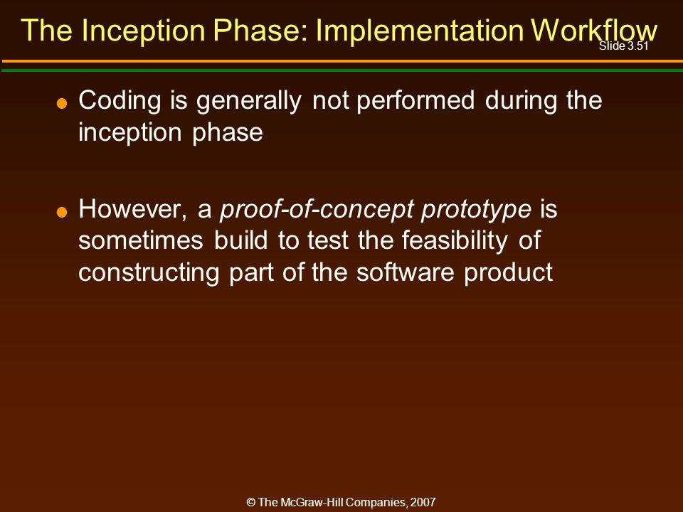 The Inception Phase: Implementation Workflow