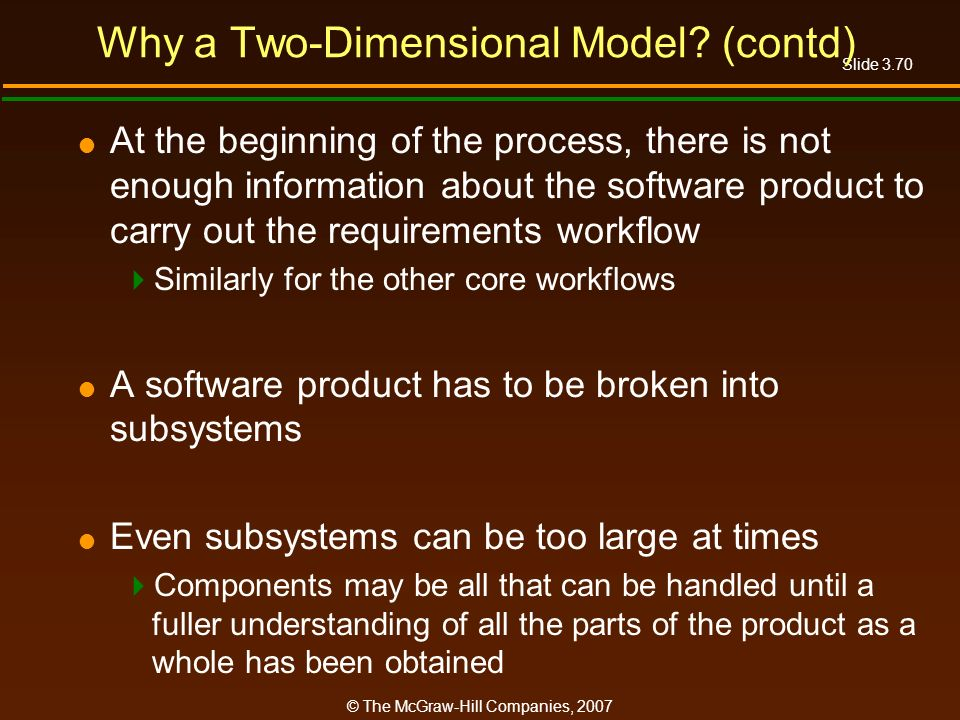 Why a Two-Dimensional Model (contd)