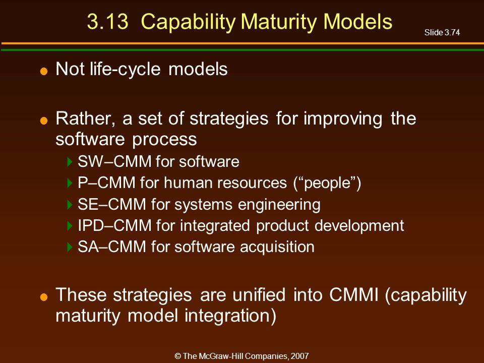 3.13 Capability Maturity Models