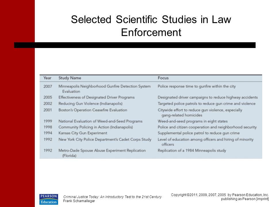 Selected Scientific Studies in Law Enforcement