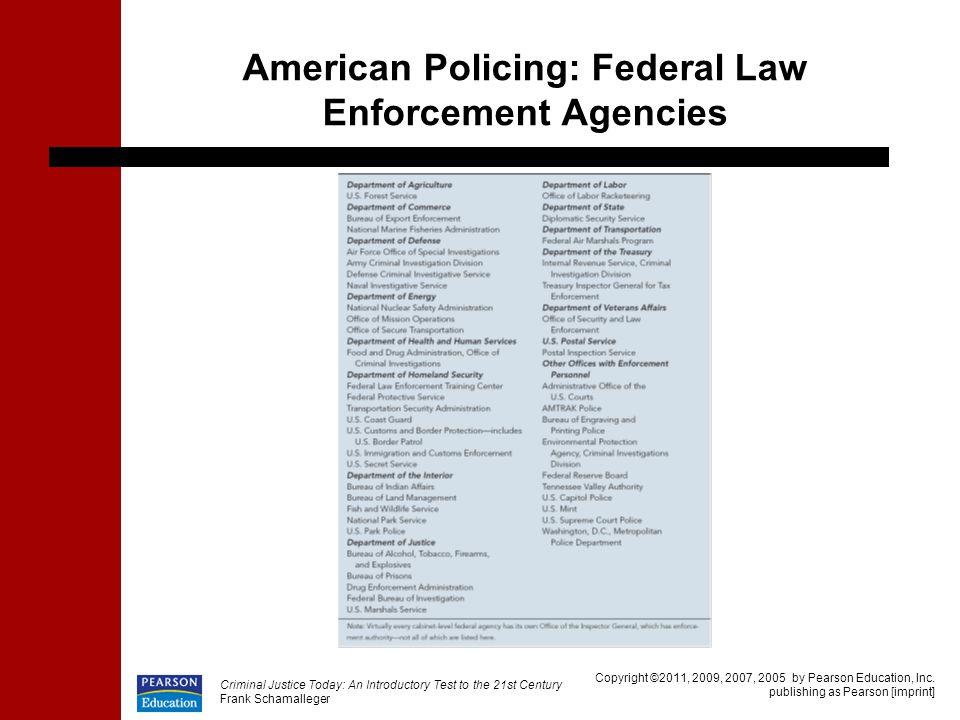 American Policing: Federal Law Enforcement Agencies