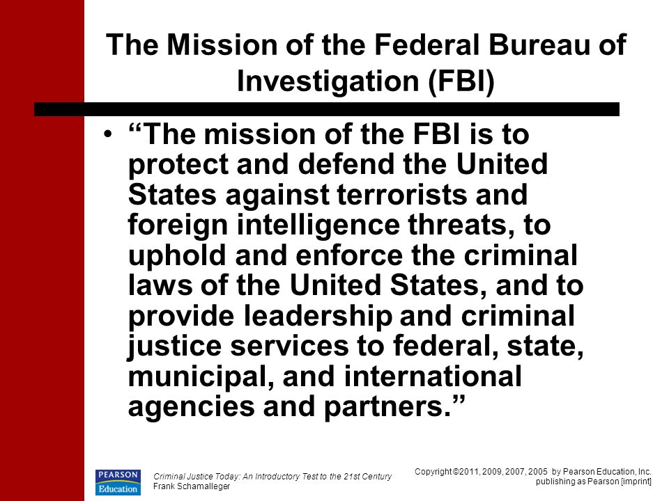 The Mission of the Federal Bureau of Investigation (FBI)