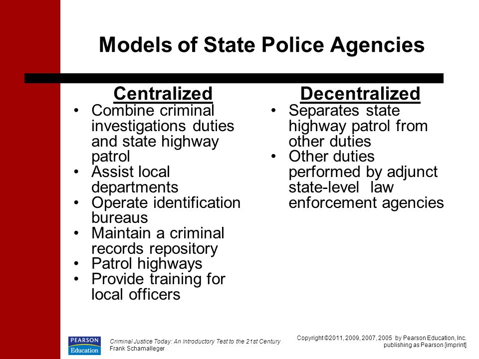 Models of State Police Agencies