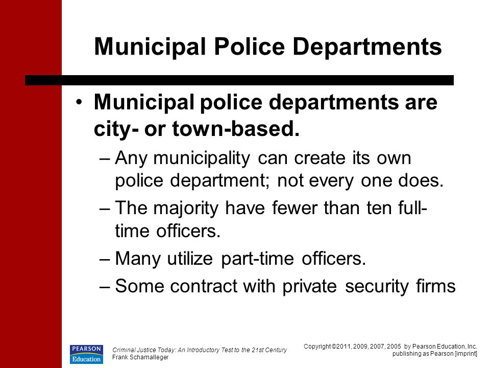 Municipal Police Departments