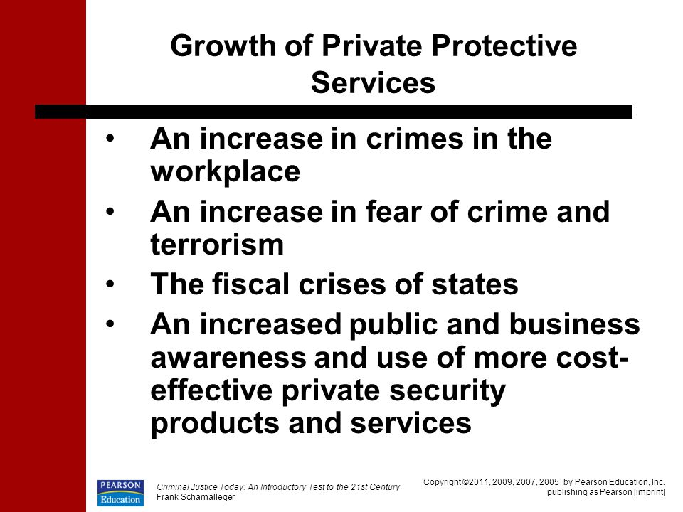 Growth of Private Protective Services