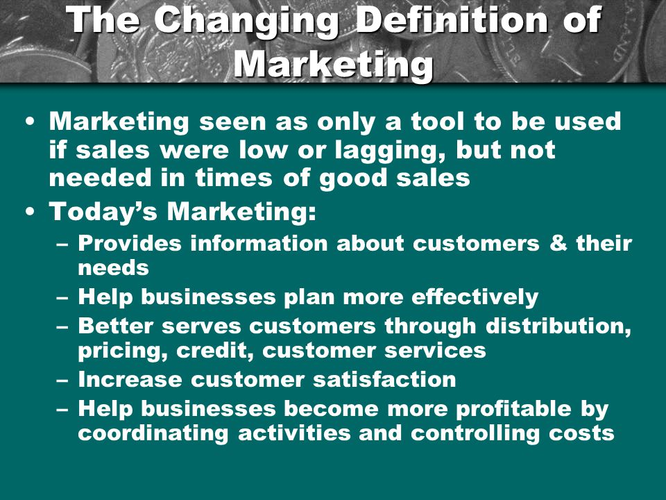 The Changing Definition of Marketing