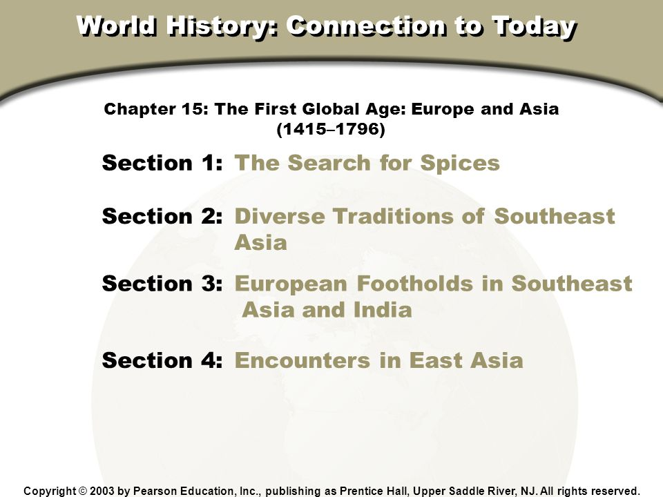 World History: Connection to Today