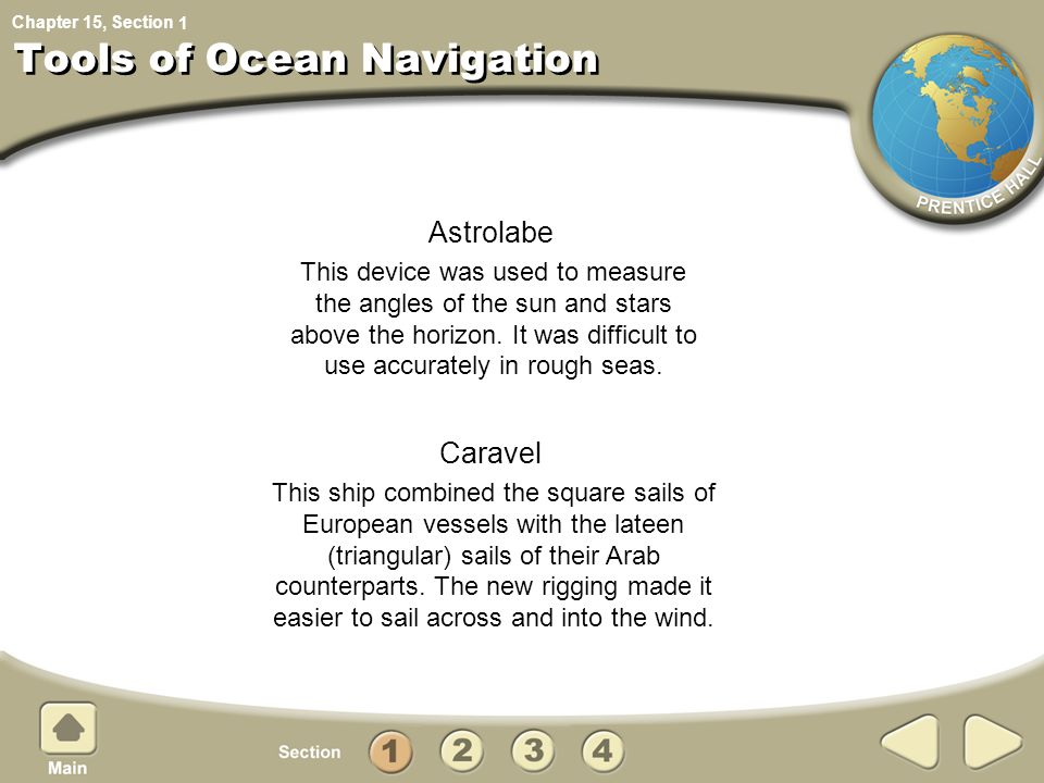 Tools of Ocean Navigation