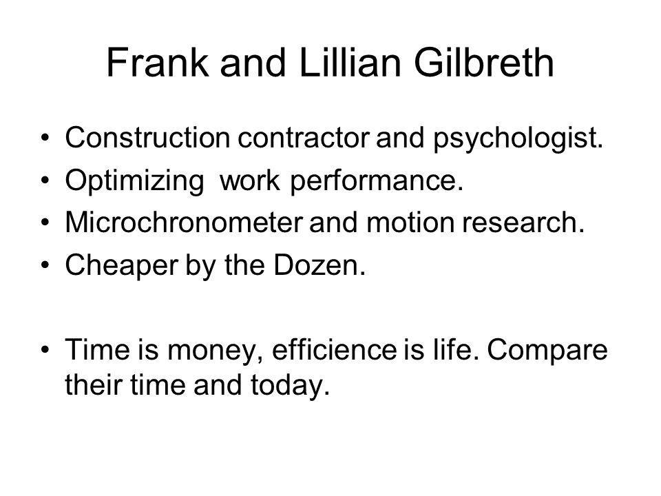 Frank and Lillian Gilbreth