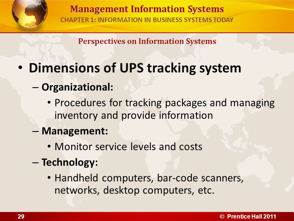 CHAPTER 1: INFORMATION IN BUSINESS SYSTEMS TODAY