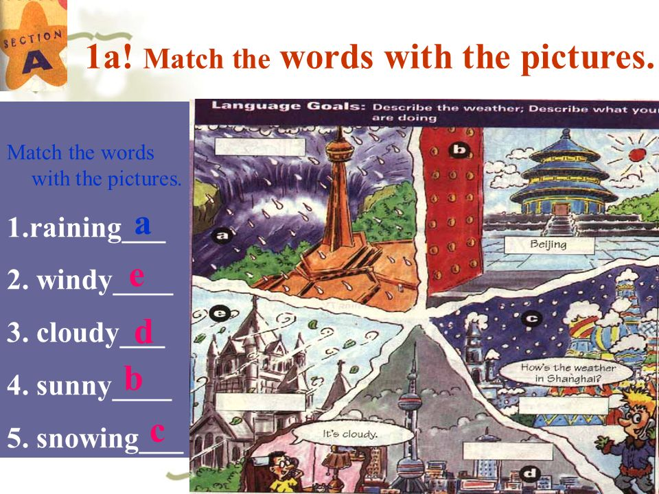 1a! Match the words with the pictures.