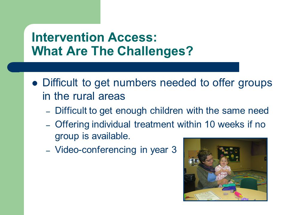 Intervention Access: What Are The Challenges