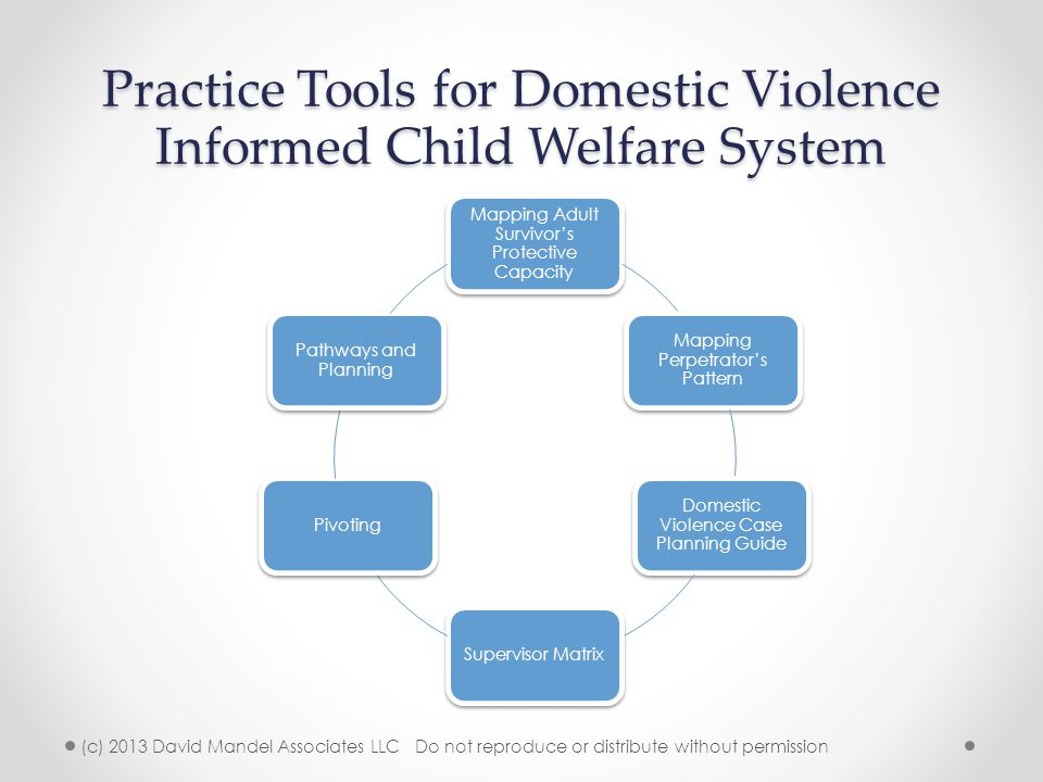 Practice Tools for Domestic Violence Informed Child Welfare System