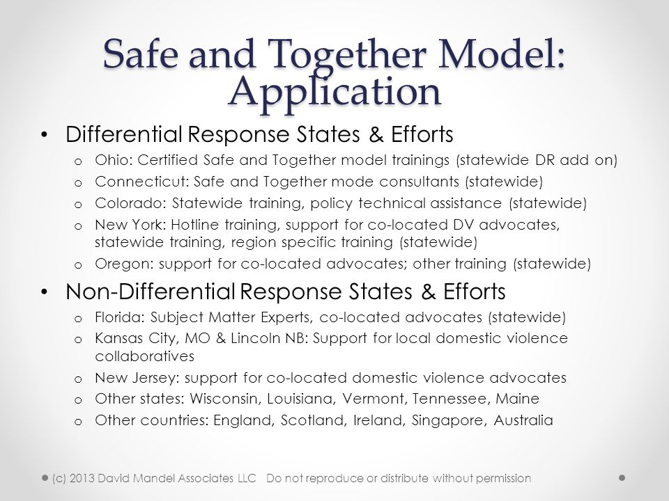 Safe and Together Model: Application