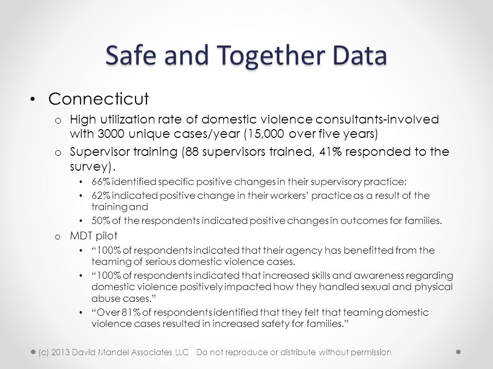 Safe and Together Data Connecticut