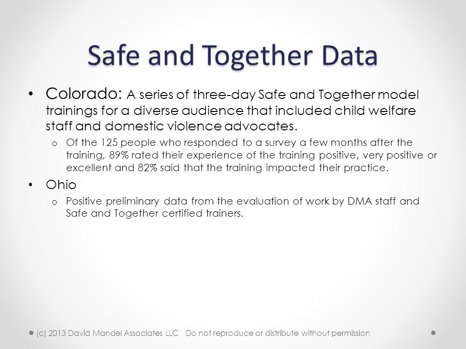 Safe and Together Data