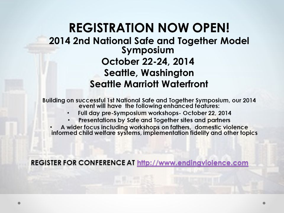 REGISTER FOR CONFERENCE AT http://www.endingviolence.com