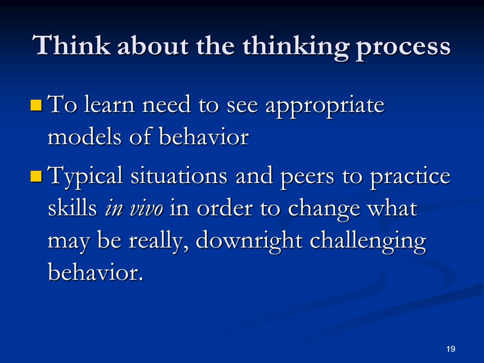 Think about the thinking process