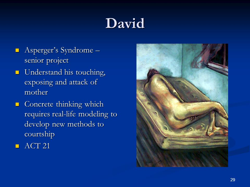 David Asperger's Syndrome – senior project
