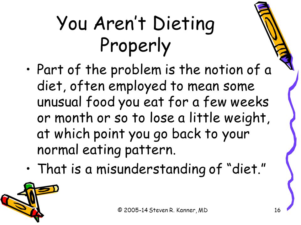 You Aren't Dieting Properly