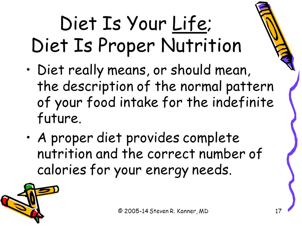 Diet Is Your Life; Diet Is Proper Nutrition
