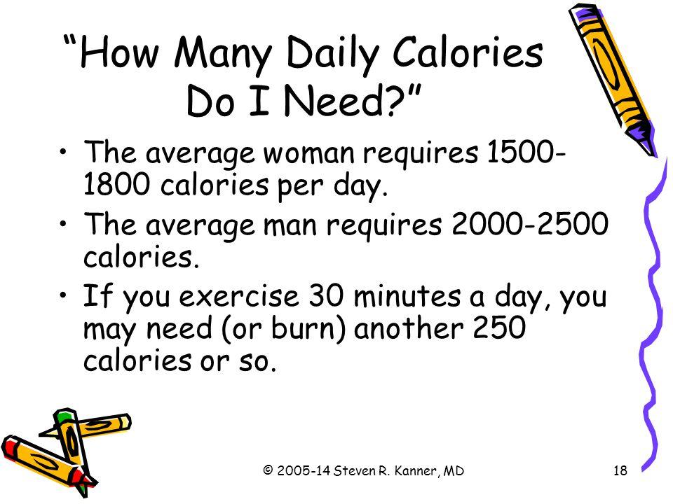 How Many Daily Calories Do I Need