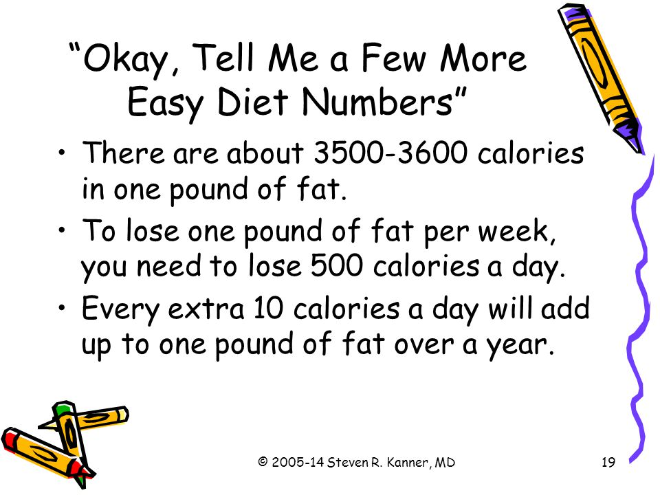 Okay, Tell Me a Few More Easy Diet Numbers