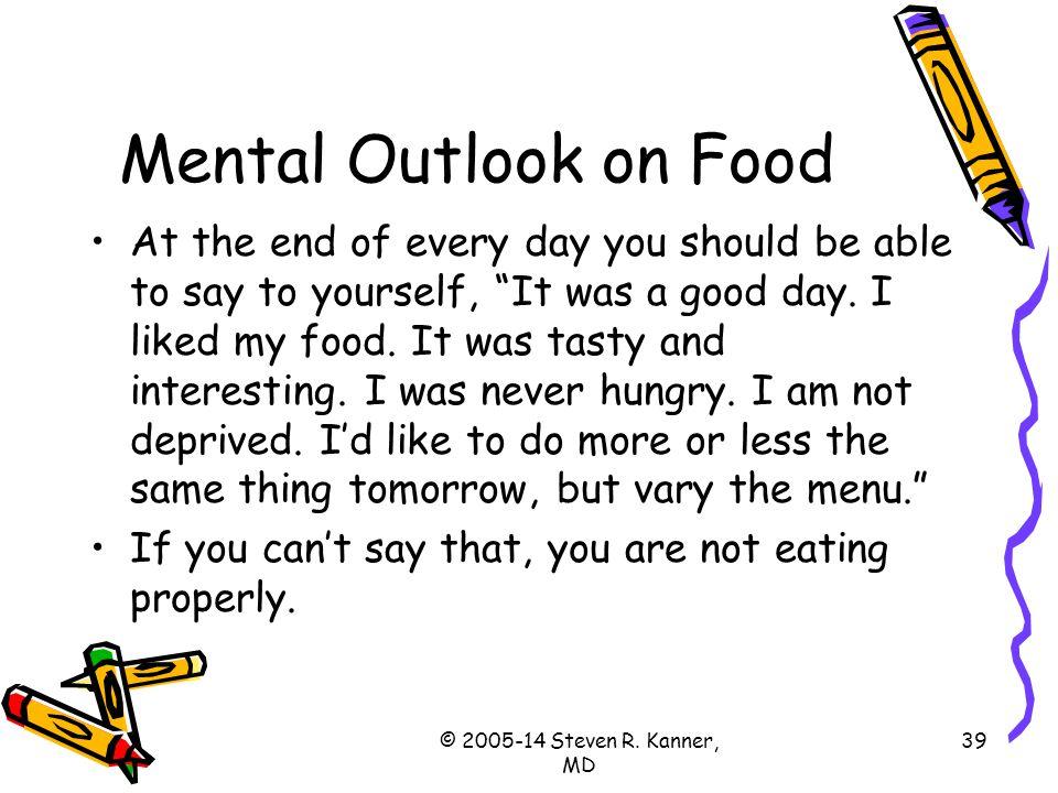 Mental Outlook on Food