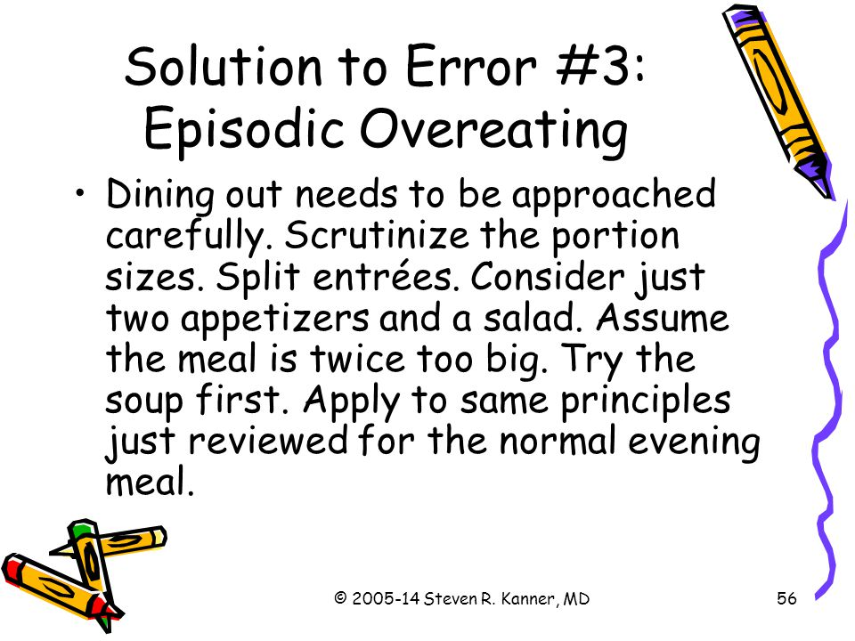 Solution to Error #3: Episodic Overeating